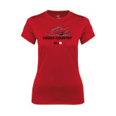 Ladies Syntrel Performance Red Tee-Cross Country Shoe