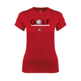 Ladies Syntrel Performance Red Tee-Golf Star and Stripes