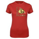 Ladies Syntrel Performance Red Tee-Excellence Fund