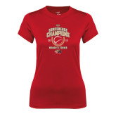 Ladies Syntrel Performance Red Tee-2016 Womens Tennis Conference Champions