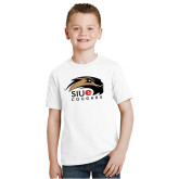 Youth White T Shirt-SIUE Cougars Official Logo