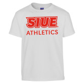 Youth White T Shirt-SIUE