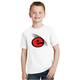 Youth White T Shirt-e Slash Mark