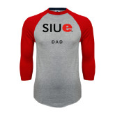 Grey/Red Raglan Baseball T-Shirt-Dad