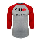 Grey/Red Raglan Baseball T-Shirt-Grandpa