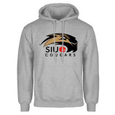 Grey Fleece Hoodie-SIUE Cougars Official Logo