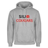 Grey Fleece Hoodie-SIUE Cougars Stacked