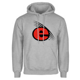 Grey Fleece Hoodie-e Slash Mark