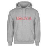 Grey Fleece Hoodie-Institutional Mark