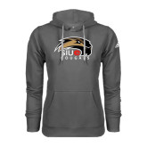 Adidas Climawarm Charcoal Team Issue Hoodie-SIUE Cougars Official Logo
