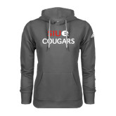Adidas Climawarm Charcoal Team Issue Hoodie-SIUE Cougars Stacked