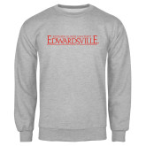 Grey Fleece Crew-Institutional Mark