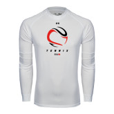 Under Armour White Long Sleeve Tech Tee-Abstract Tennis Ball