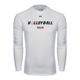 Under Armour White Long Sleeve Tech Tee-Volleyball w/ Ball