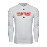 Under Armour White Long Sleeve Tech Tee-Wrestling Bar