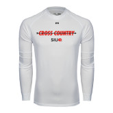 Under Armour White Long Sleeve Tech Tee-Cross Country Arrow