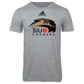 Adidas Sport Grey Logo T Shirt-SIUE Cougars Official Logo