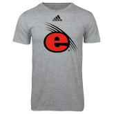 Adidas Sport Grey Logo T Shirt-e Slash Mark