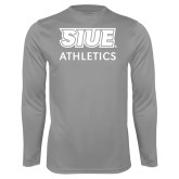 Performance Steel Longsleeve Shirt-SIUE Cougars Stacked