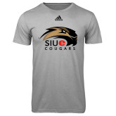 Adidas Climalite Sport Grey Ultimate Performance Tee-SIUE Cougars Official Logo