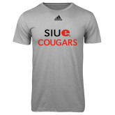 Adidas Climalite Sport Grey Ultimate Performance Tee-SIUE Cougars Stacked