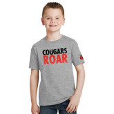 Youth Grey T-Shirt-Cougars Roar