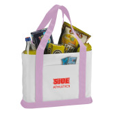 Contender White/Pink Canvas Tote-SIUE