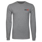 Grey Long Sleeve T Shirt-SIUE