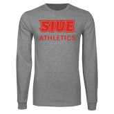 Grey Long Sleeve T Shirt-SIUE