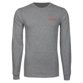 Grey Long Sleeve T Shirt-Institutional Mark