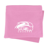 Pink Sweatshirt Blanket-SIUE Cougars Official Logo
