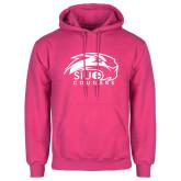 Fuchsia Fleece Hood-SIUE Cougars Official Logo