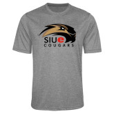 Performance Grey Heather Contender Tee-SIUE Cougars Official Logo