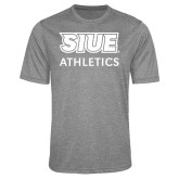 Performance Grey Heather Contender Tee-SIUE Cougars Stacked