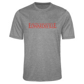 Performance Grey Heather Contender Tee-Institutional Mark