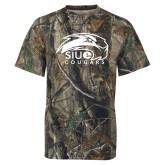 Realtree Camo T Shirt-SIUE Cougars Official Logo
