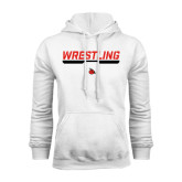White Fleece Hoodie-Wrestling Bar