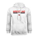 White Fleece Hoodie-Wrestling Bar