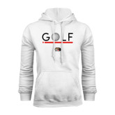 White Fleece Hoodie-Golf Star and Stripes