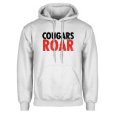 White Fleece Hoodie-Cougars Roar