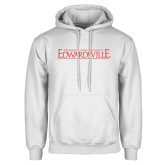 White Fleece Hoodie-Institutional Mark