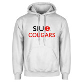 White Fleece Hoodie-SIUE Cougars Stacked