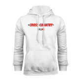 White Fleece Hoodie-Cross Country Arrow