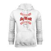 White Fleece Hoodie-Softball Seams