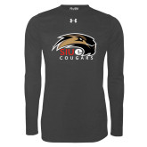 Under Armour Carbon Heather Long Sleeve Tech Tee-SIUE Cougars Official Logo