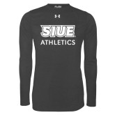 Under Armour Carbon Heather Long Sleeve Tech Tee-SIUE Cougars Stacked