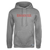 Russell DriPower Grey Fleece Hoodie-Institutional Mark