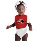 Red Baby Bib-SIUE Cougars Official Logo
