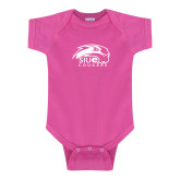 Fuchsia Infant Onesie-SIUE Cougars Official Logo