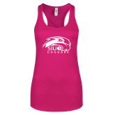 Next Level Ladies Raspberry Ideal Racerback Tank-SIUE Cougars Official Logo